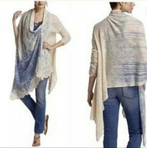Anthropologie Delft Wrap Sweater Cardigan